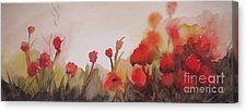 Poppies Canvas Print by Vesna Antic