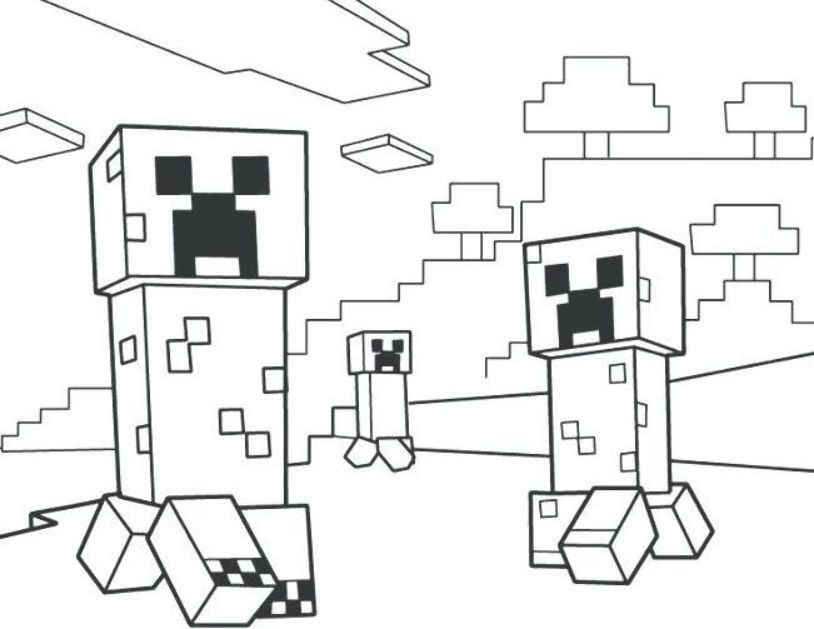 Minecraft Coloring Pages Creeper Fun Minecraft Coloring Pages Ideas For Kids Minecraft Printables Minecraft Coloring Pages Coloring Pages For Boys