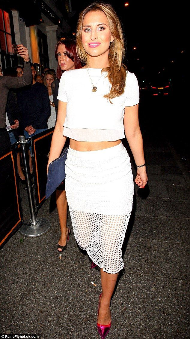 White pencil skirt and crop top set – Modern skirts blog for you