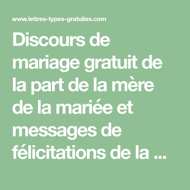 Modele Lettre Mariage Felicitation Gratuit