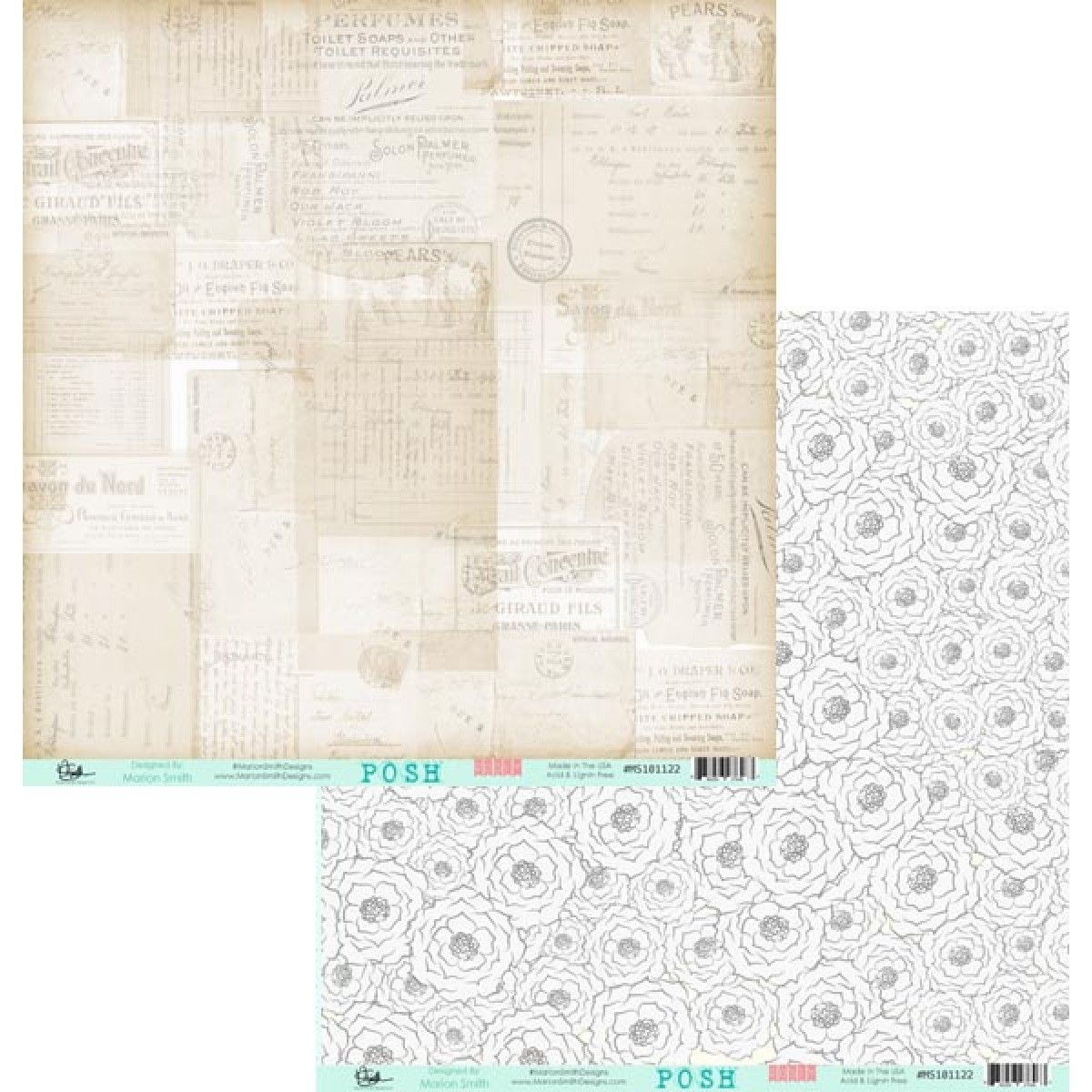 Nouvelle collection Marion Smith Designs Posh Rosey MS101122