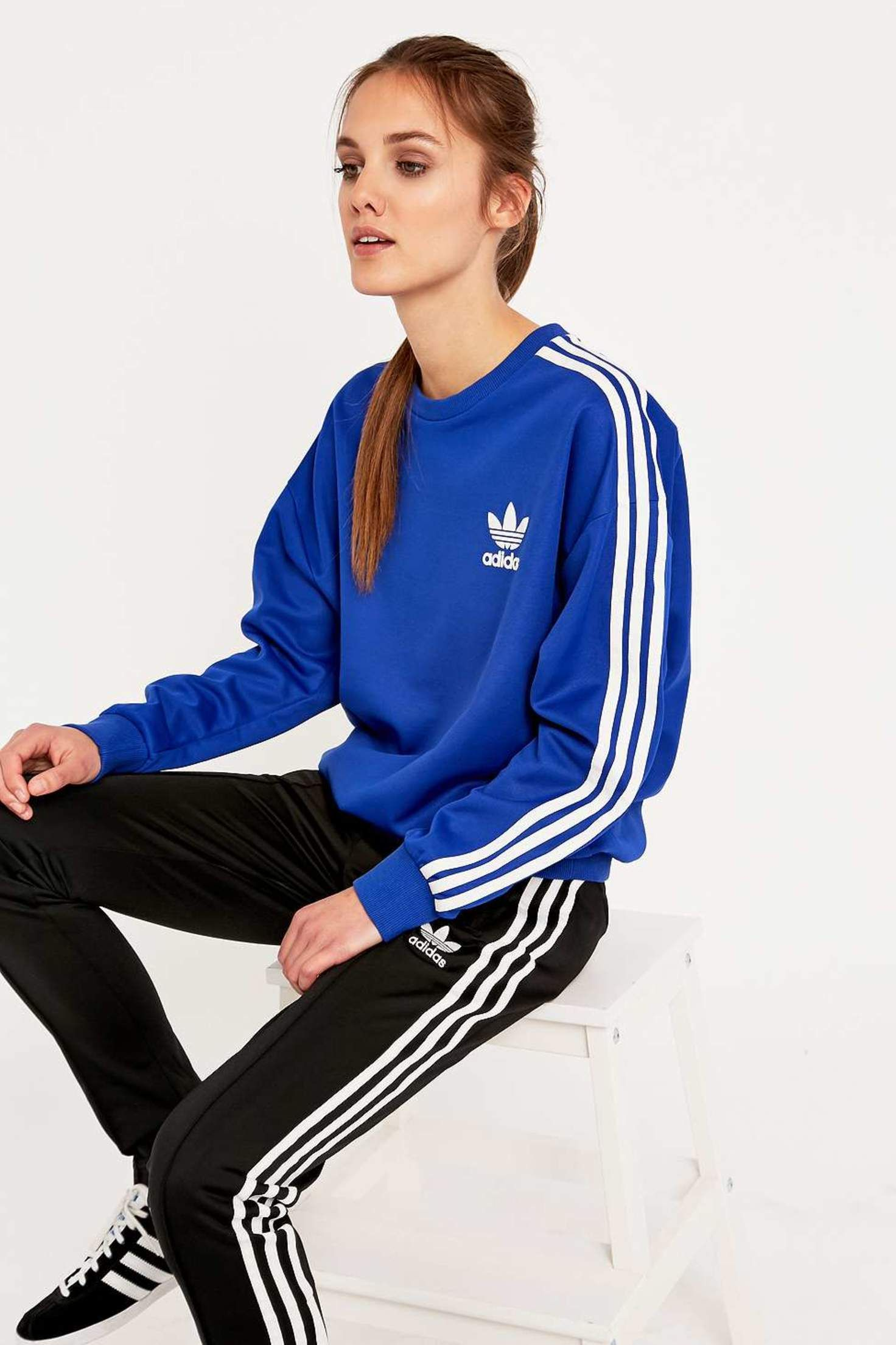 adidas Classic Blue Sweatshirt - Urban Outfitters ...