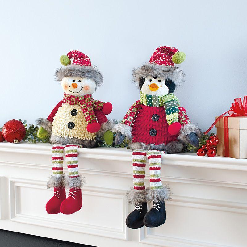 Adornos navide os para repisa mu eco de nieve y ping ino for Adornos para repisas