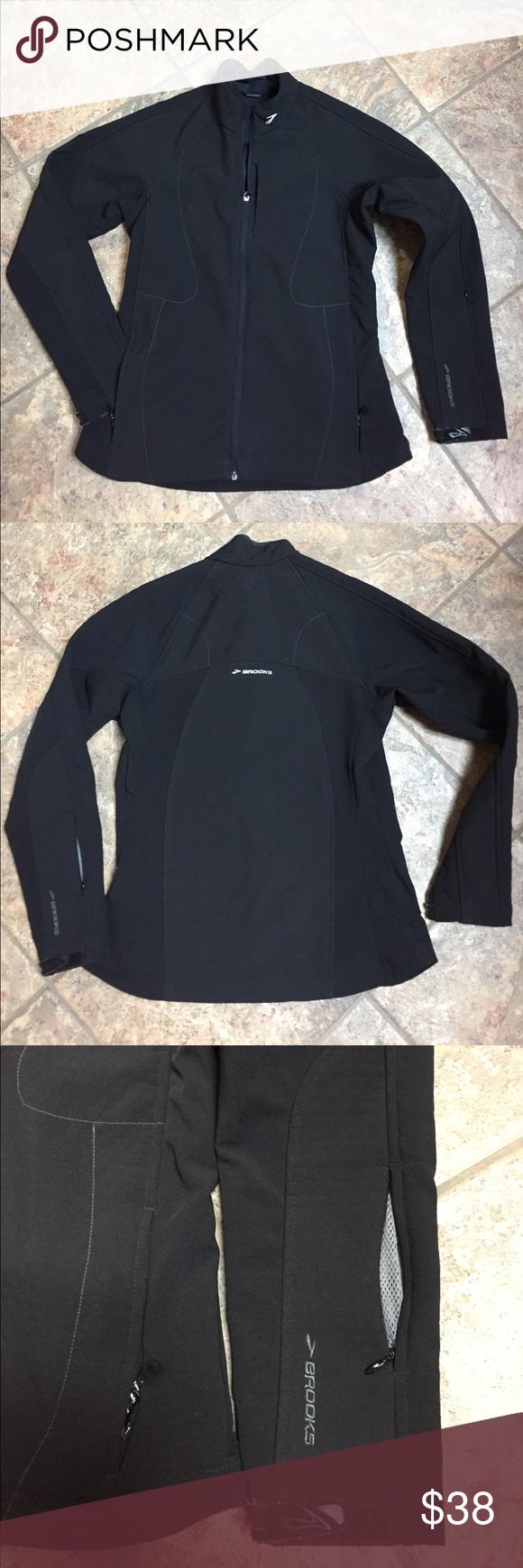 Brooks Shelter Technology Black Jacket Size S Running Jacket Jackets Black Jacket
