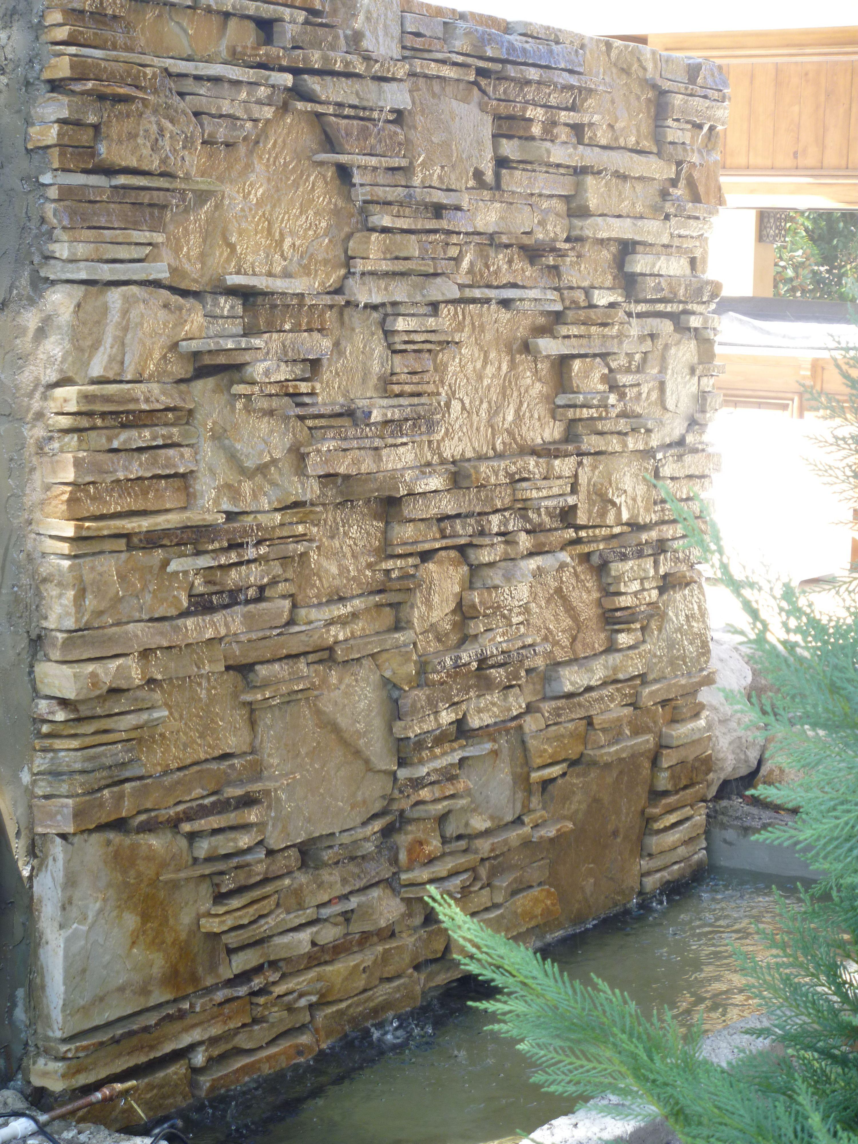 Water Wall Fountain Master Bath Window In
