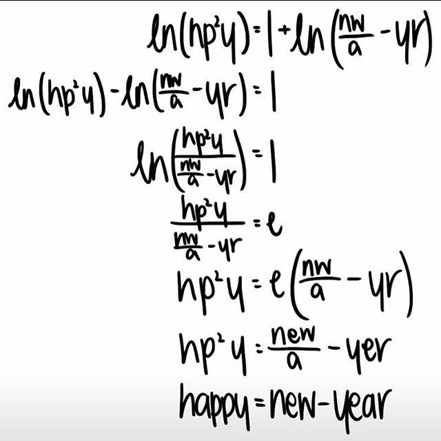 happy new year engineering style happynewyear newyear newyou intjuniverse intj intjengineer math engineering engineer 2016 welcome2016