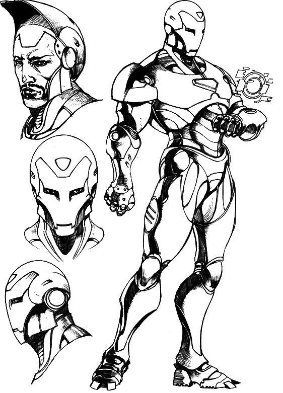 Iron Man Coloring Page Robert Downey Jr Iron Man Iron Man Coloring Pages