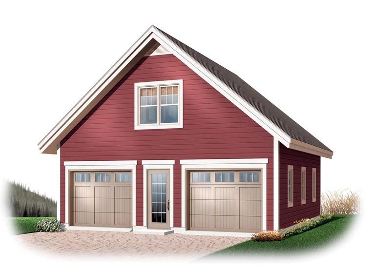 2 Car Garage Plan Number 64868 Garage plans with loft