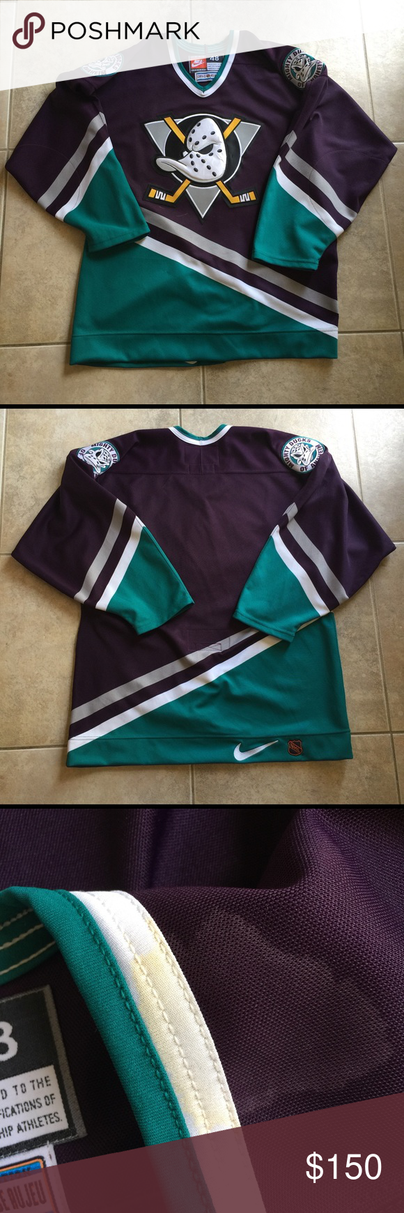 f98a795d1 ... cheapest vintage anaheim mighty ducks nike jersey great condition. size  48 mens xl. letters