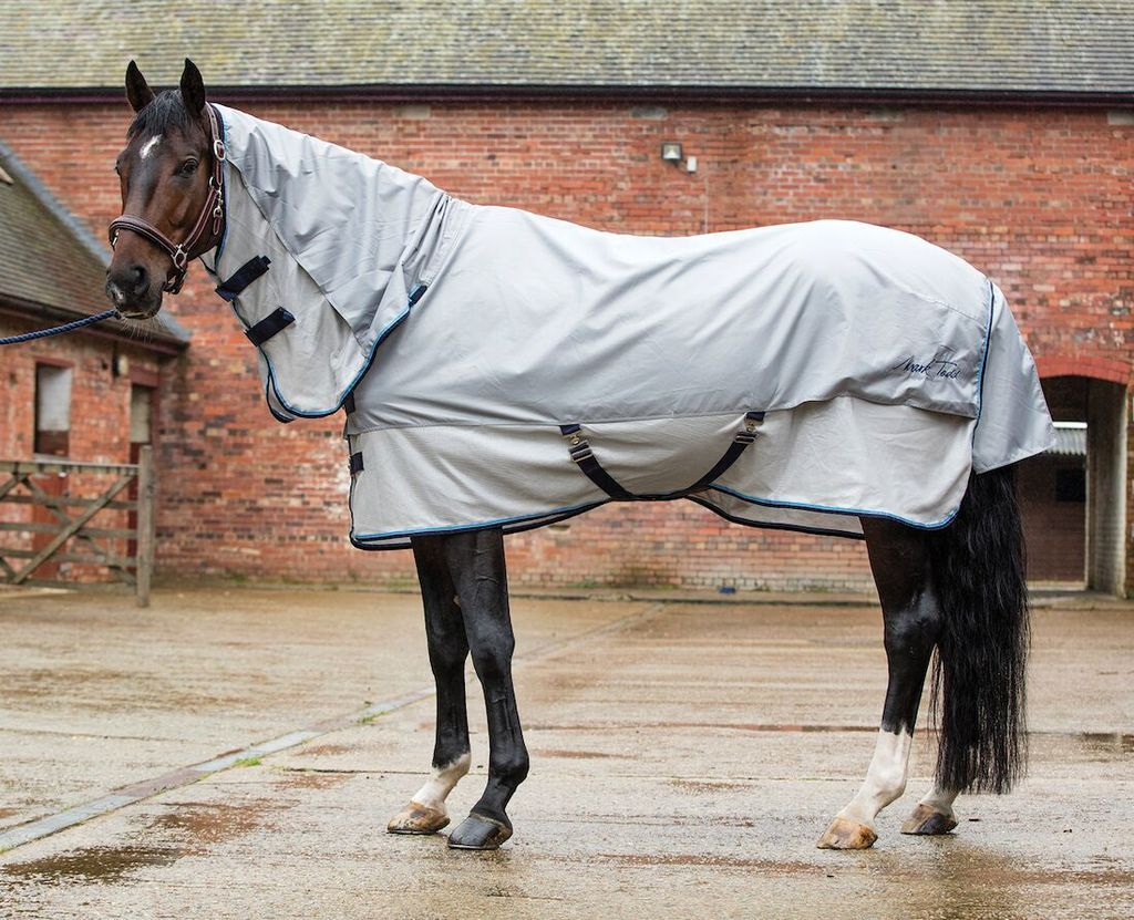Mark Todd Fly Rug Showerproof Combo Grey Silver Rugs