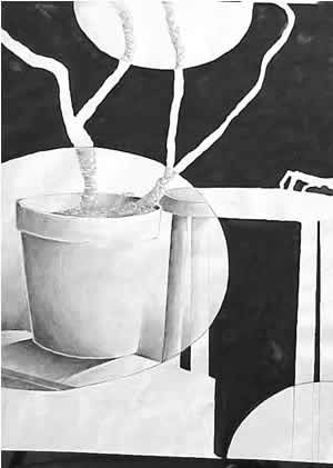 positice Negative Space | Art Class: Drawing | Pinterest ... Negative Space Drawing Still Life