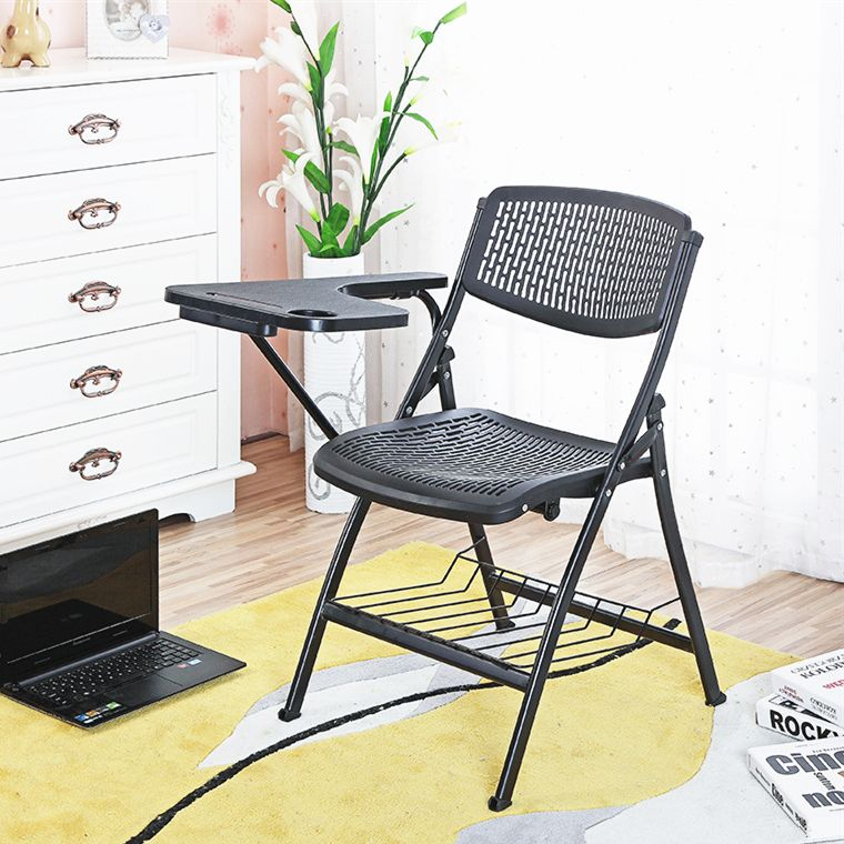 Fashion Breathable Folding Staff Training Chair Office Conference Meeting With Writing Board Portable Student