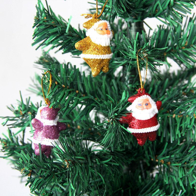 6pcs Christmas Xmas Tree Hanging Santa Clau Christmas Tree
