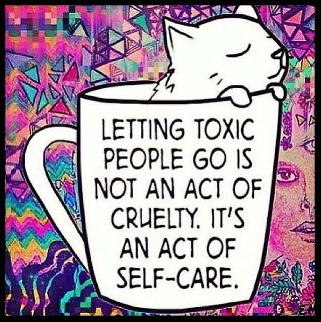 Letting toxic people go is not an act of cruelty. It's an act of self care. beating negativity, getting rid of negativity