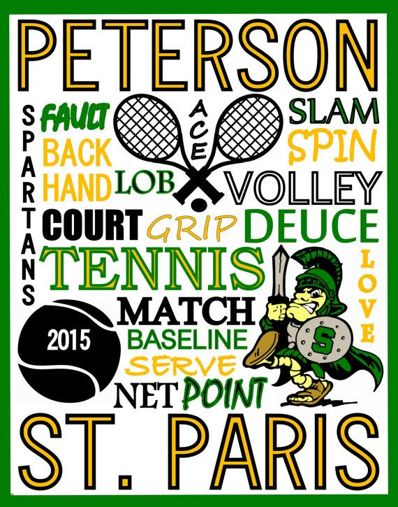 Tennis Print Tennis Team Gift Tennis Poster School Tennis Sign High School Tennis College Tennis Spring T Tennis Team Gifts Tennis Posters Team Gifts