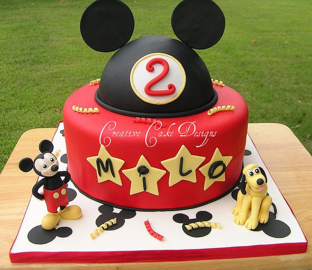 Disney Birthday Cake Disney birthday Birthday cakes and Creative