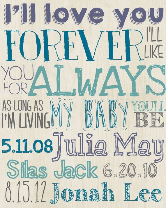 love you forever print