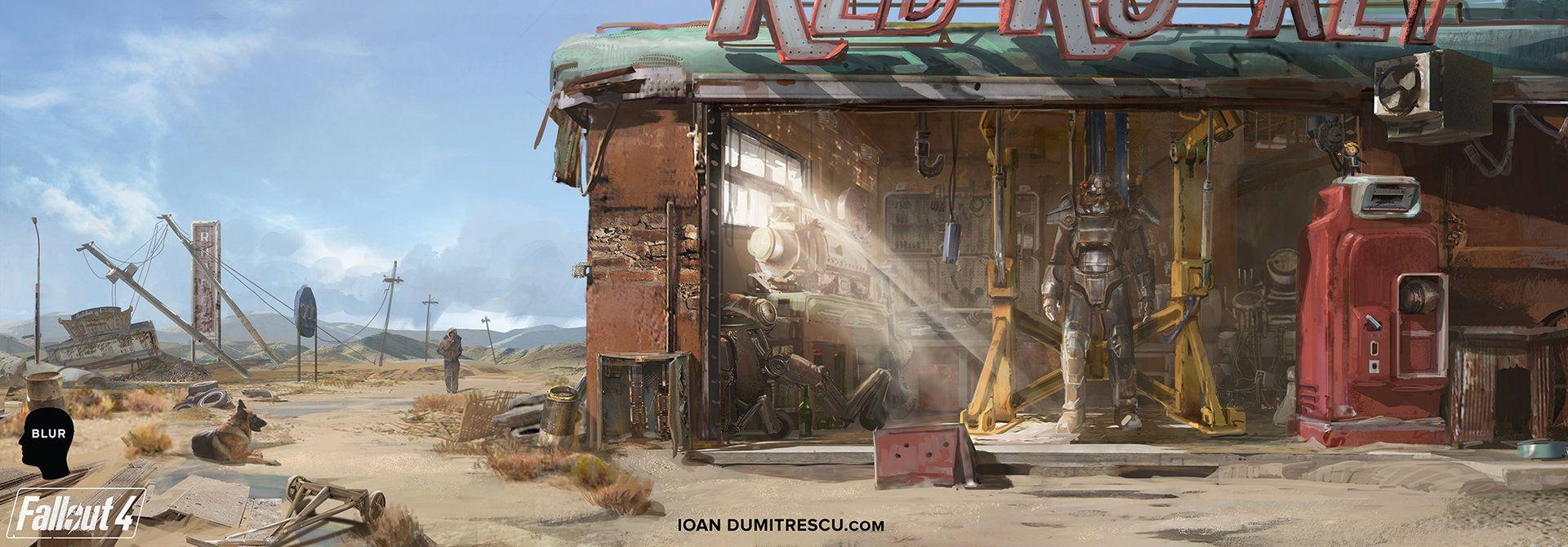 Fallout 4 Garage Concept Ioan Dumitrescu Concept Art Muse Art Environmental Art