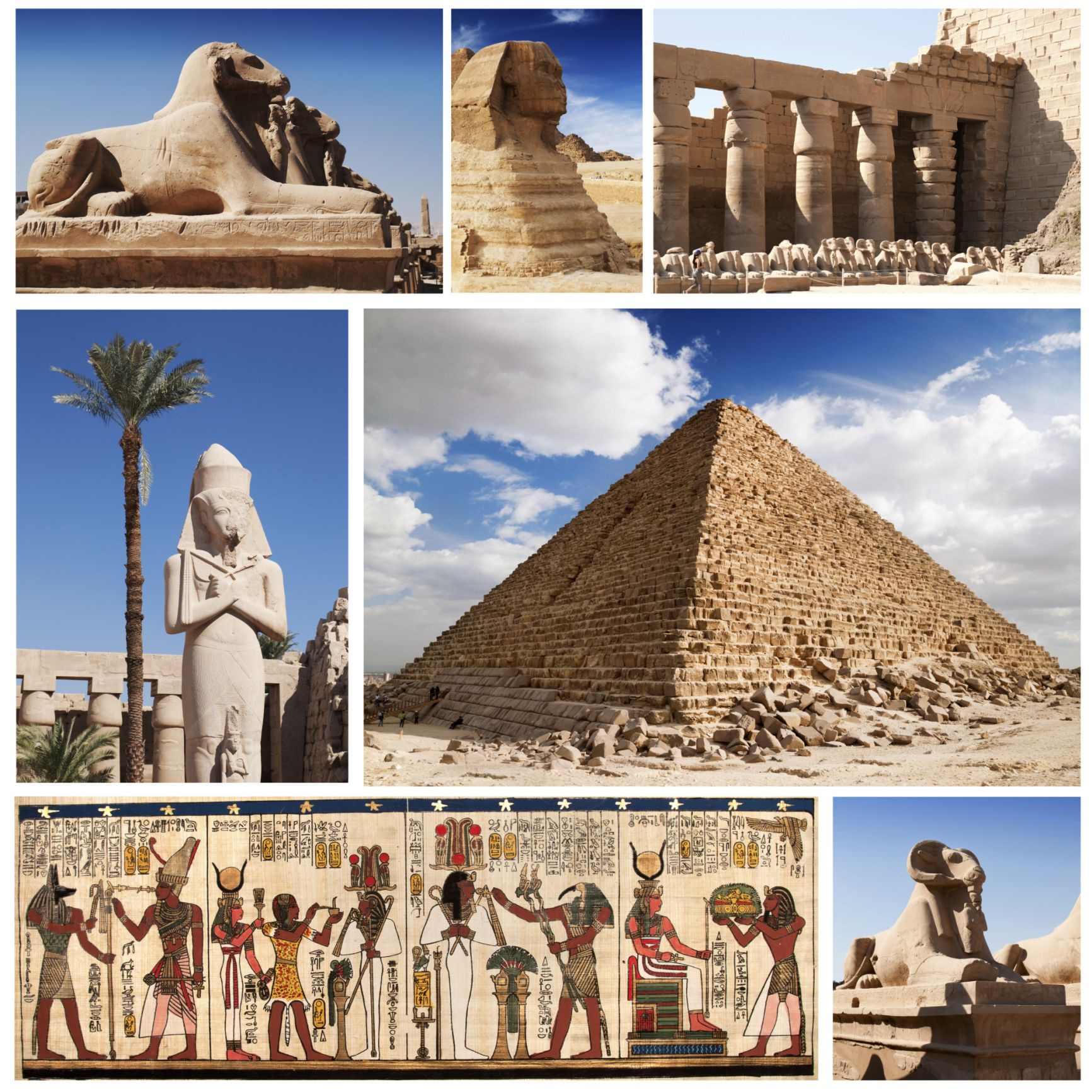 Egypt Travel Collage