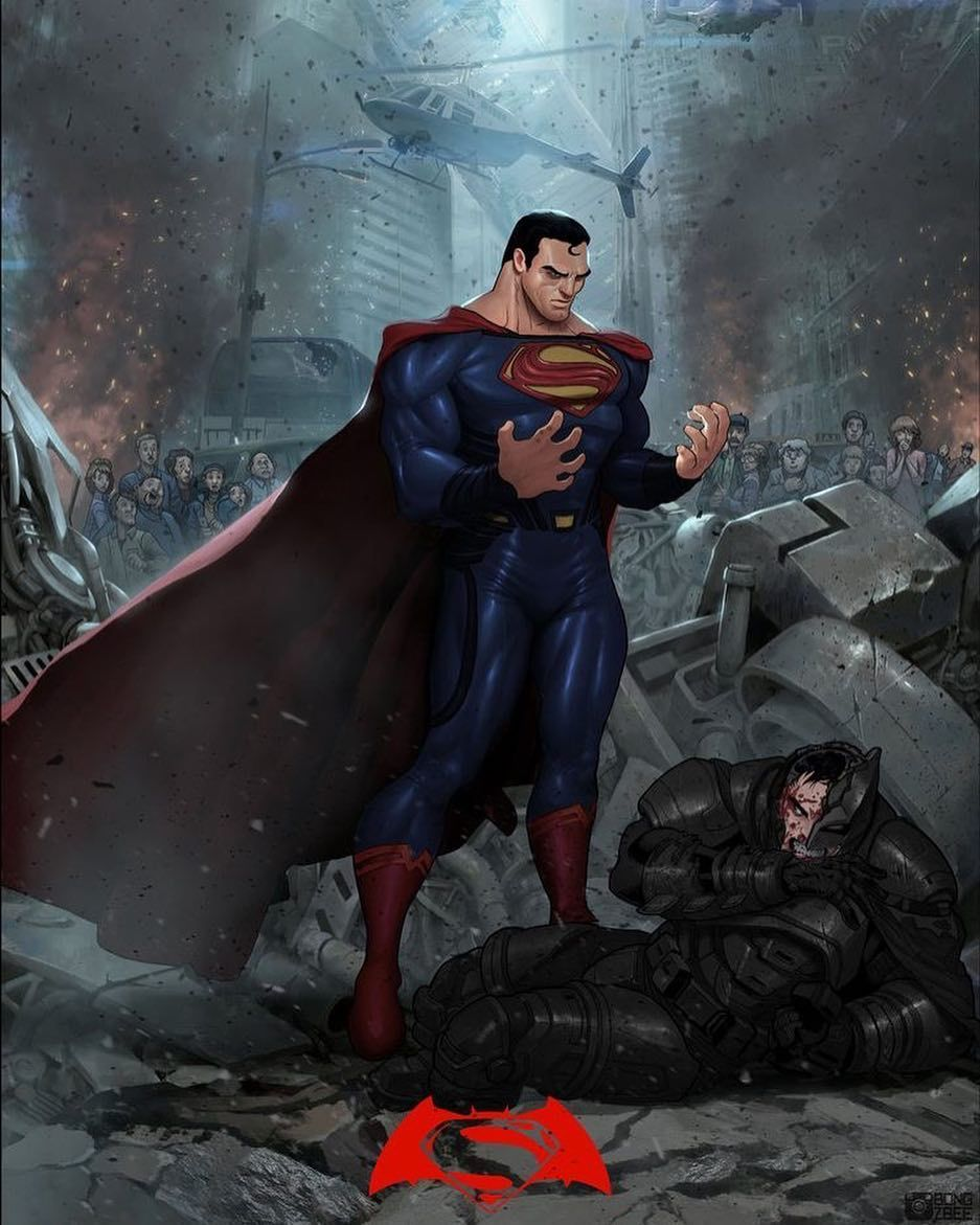 Superman V Batman Art By Bongz Berry On Deviantart Superman Batman Dawnofjustice Justiceleague Dc Dcco Superman Art Dc Comics Art Batman And Superman