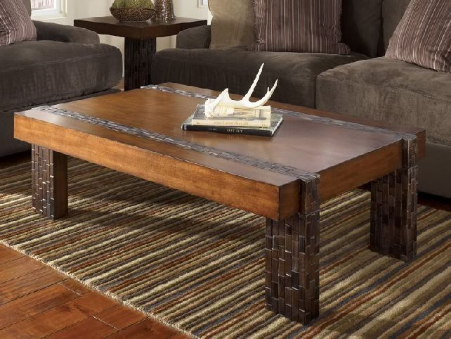 Coffee Table Modern Rustic Square Shape With Deer Horn On The Top Of Plans Beautiful 10 Wood And Metal