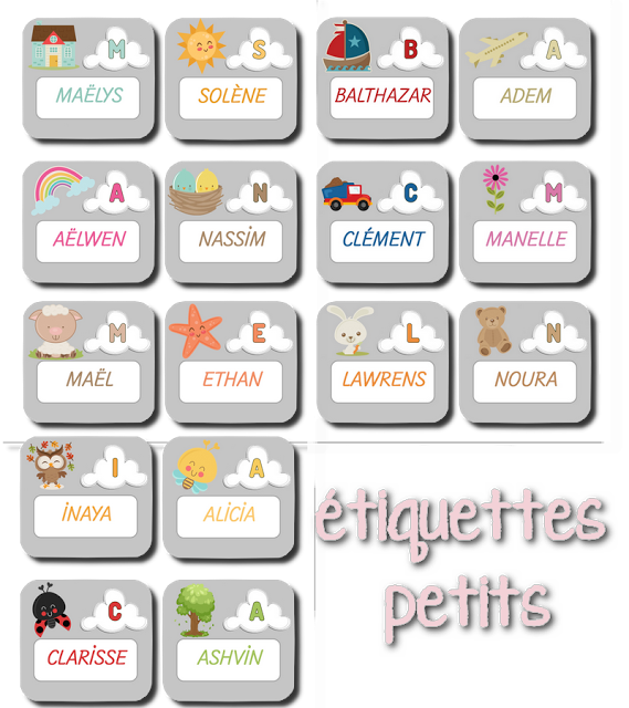 La maternelle de laur ne tiquettes pr noms la classe de laurene pinterest tiquette - Etiquette prenom a imprimer ...