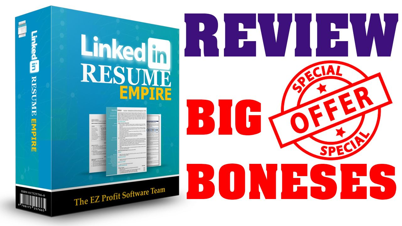 LinkedIn Resume Empire Review A Complete Business In A Box!