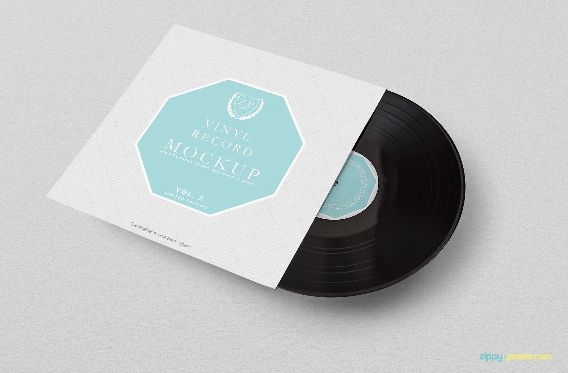 Free Vinyl Record Mockup Com Imagens Look