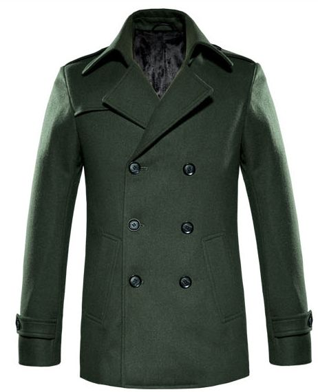 32b209316b On Sale Cool Forest Green Mens Wool Pea Coat by Perfectpeacoat.com: Shop  Cool