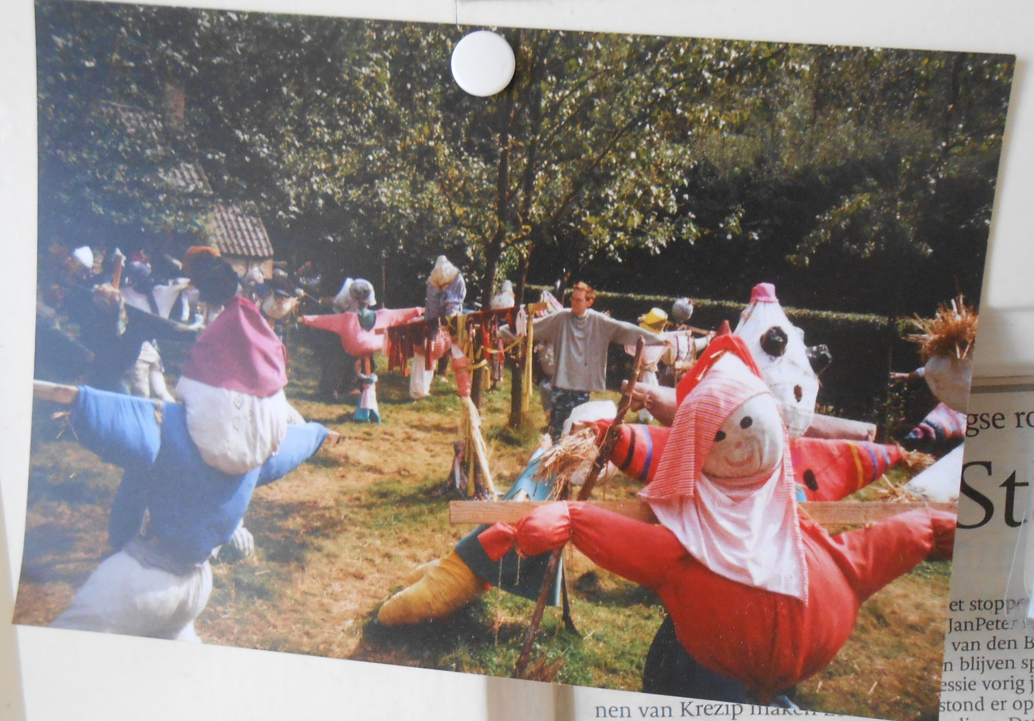 My lovely brother Pieter has got a great sense of humor, lost in a sea of scarecrows.