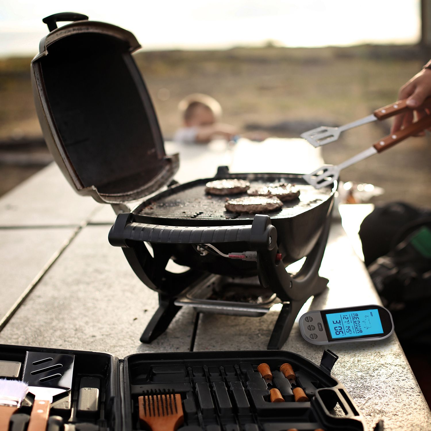 Flamen Wireless Digital BBQ Thermometer and Remote Control. See our grilling board for great grill ideas | Aspectek