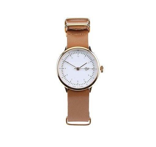Hnědé dámské kožené hodinky Cheapo Harold Mini Gold  f10549165a