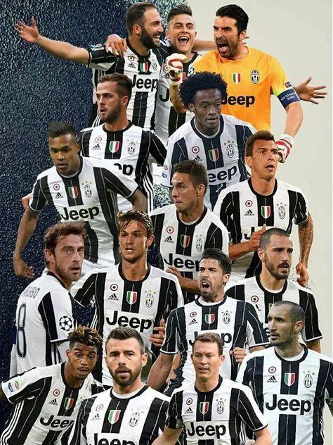 Juventus 2016/17 Giocatori di calcio, Calciatori