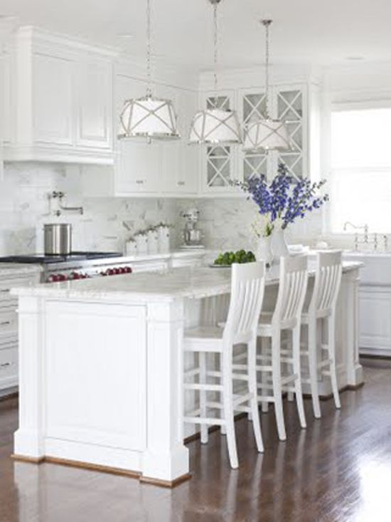 Coastal style hamptons style kitchen makeover needs for Hampton style kitchen stools