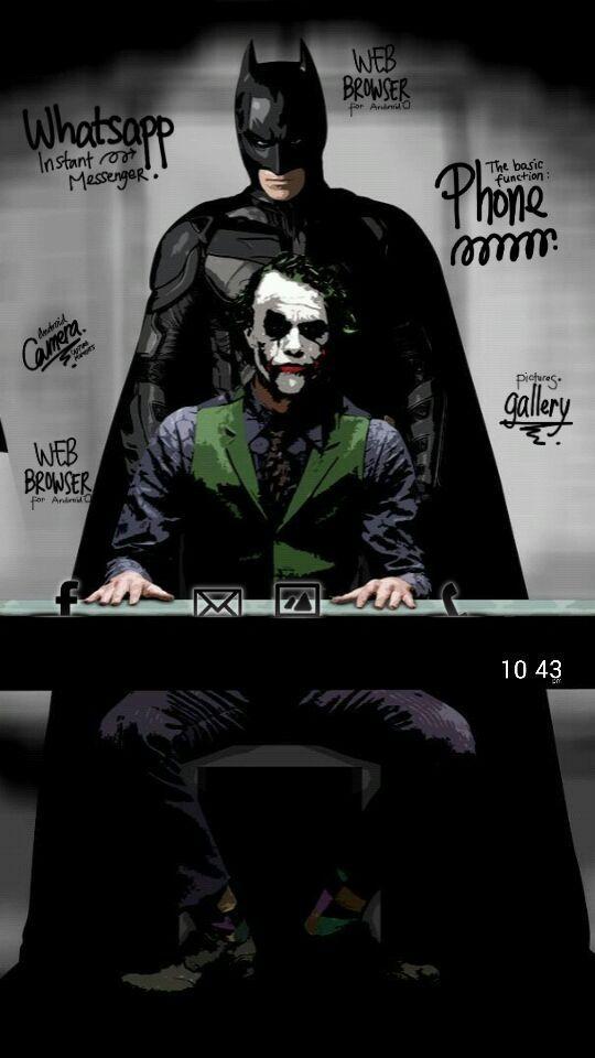 Homepack Buzz Check Out This Awesome Homescreen Ali Nikshoar Batman And Joker