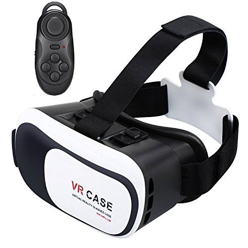 TekDeals Virtual Reality 3D Glasses Headset With Bluetooth Remote VR Goggle Focal and Pupil Distance Adjustable for 46 inches Smartphone iPhone Samsung Moto LG Nexus HTC BlackWhite >>> Visit the image link more details. Note:It is affiliate link to Amazon.