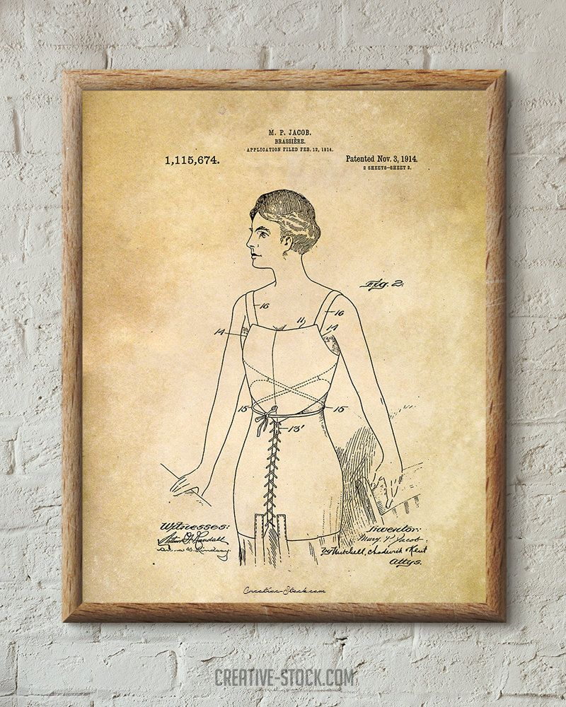 Vintage Fashion. Vintage Poster. Patent Wall Art by CreativeStock ...