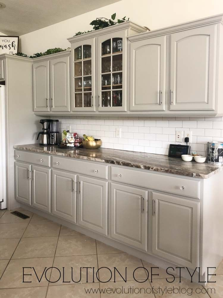 Sherwin Williams Cabinets Painted In Mindful Gray Kitchenwithislands Kitchen Cabinets Painted Grey New Kitchen Cabinets Unfinished Kitchen Cabinets