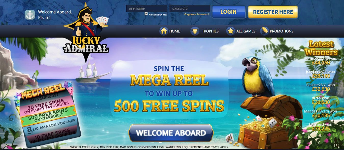 Lucky Admiral Casino Review