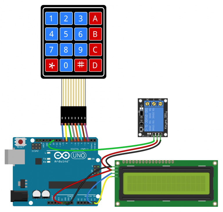 Arduino Keypad Tutorial Password Controlled 5V Relay