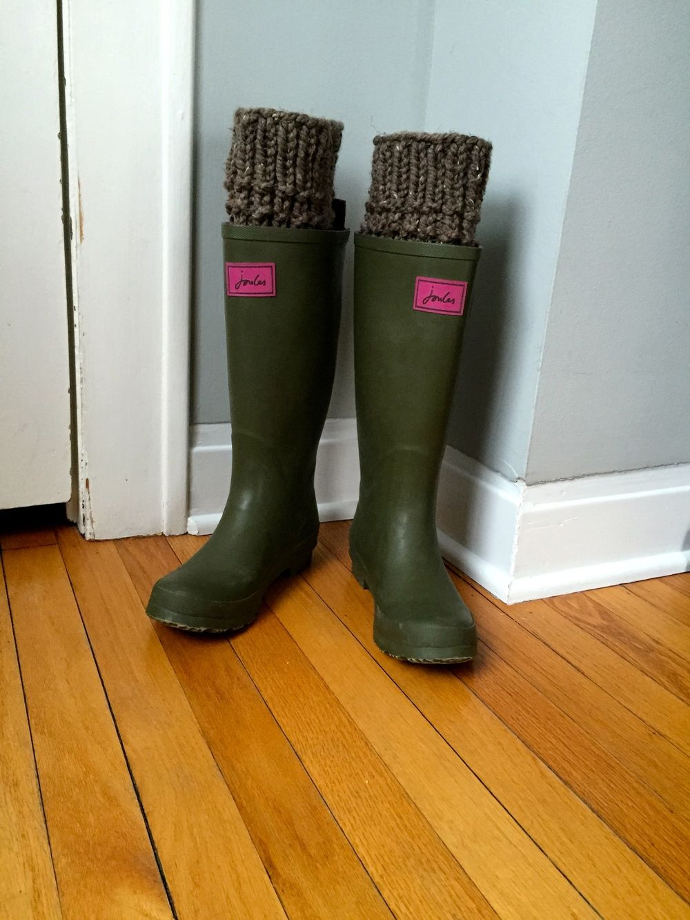 I recently bought these cute rain boots from my new favorite store ...