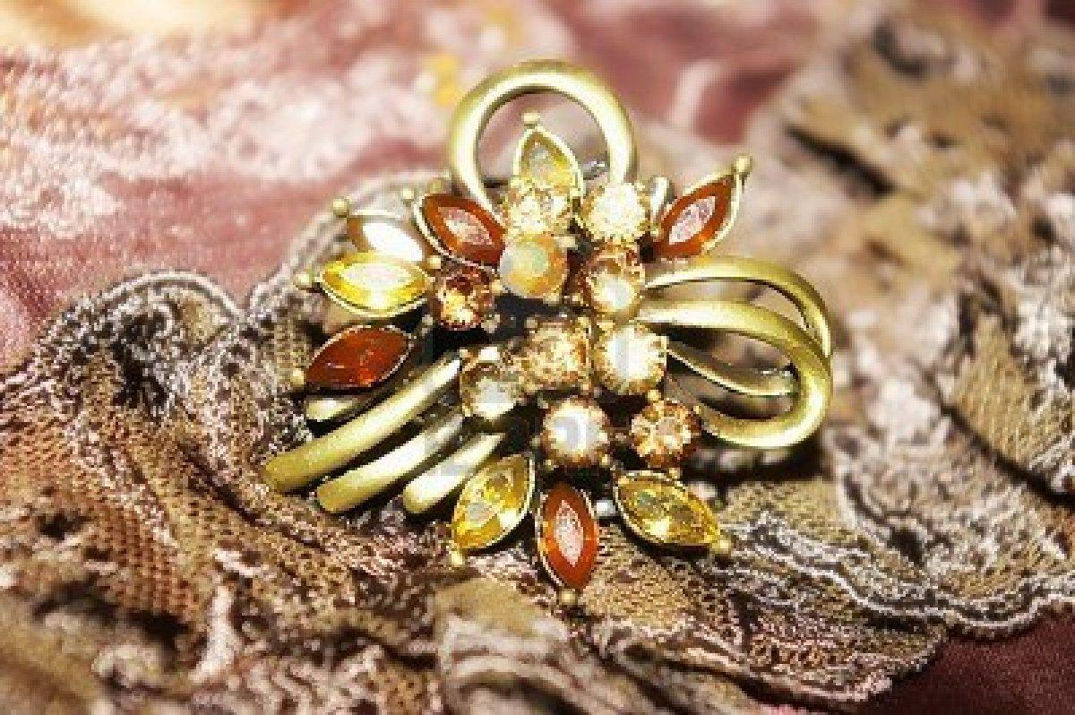glamour background with stylish ring
