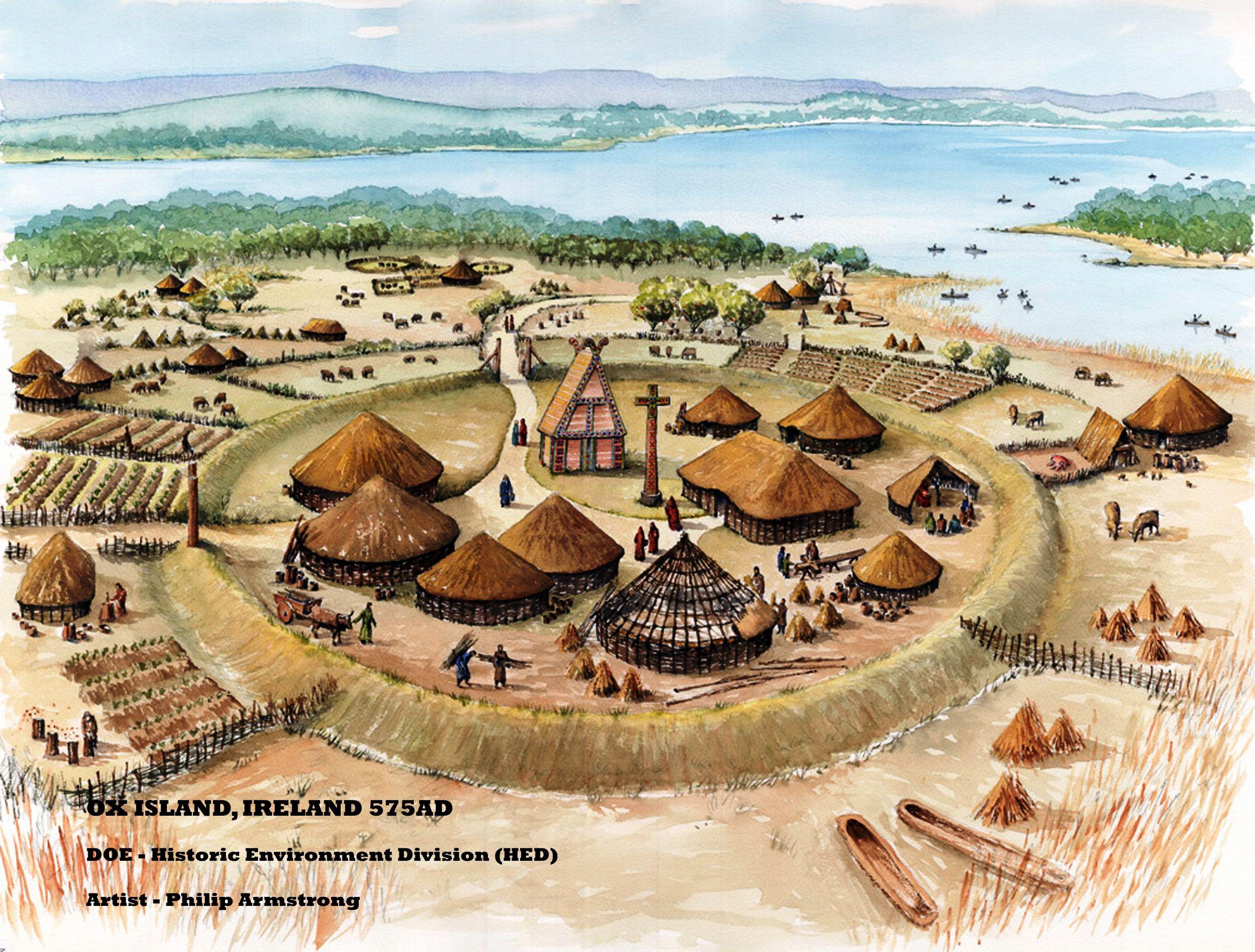 Ox Island Ireland 575ad Doe Historic Environment