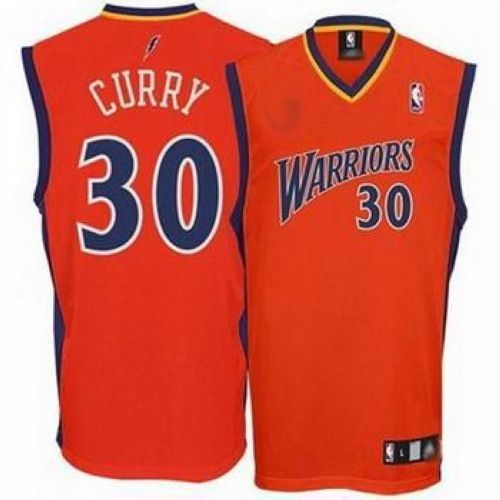 purchase cheap dee49 c5704 Warriors #30 Stephen Curry Orange Stitched NBA Jersey | NBA ...
