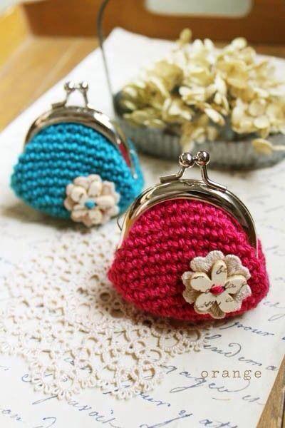 Monedero tejido a Crochet vicky Pinterest Monederos, Bolsos y