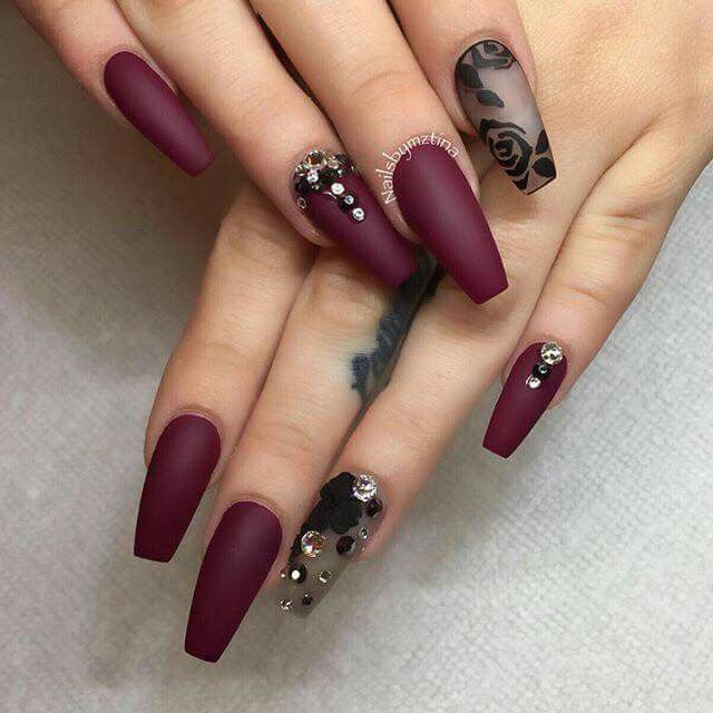 Ladies' nails have always been an important dimension of beauty and  fashion. Discover top 55 fasionable red and black nails designs. - Pin By Rheanne Ferguson On NAILS Pinterest Homecoming, Nail Nail