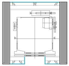 Glass elevator dwg details pinterest glass elevator for Elevator plan drawing
