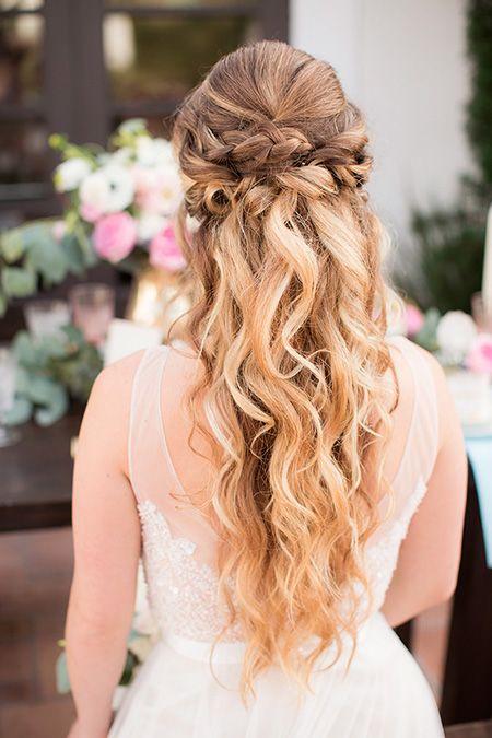 25 peinados de novia con pelo suelto