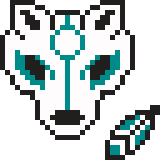 Wolf And Feather Perler Bead Pattern Bead Sprite Dessin Petit