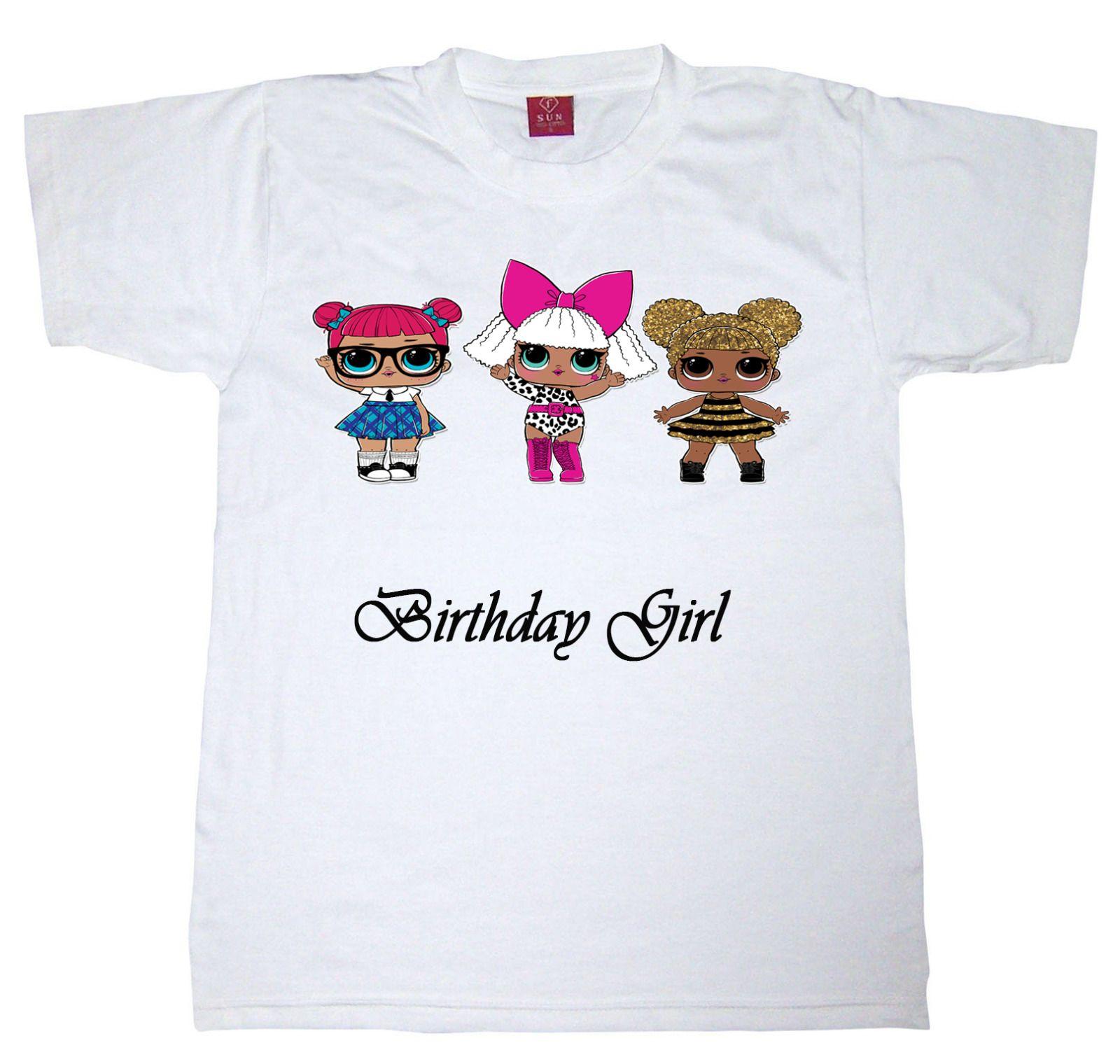 999 gbp girls lol doll personalised tshirt ebay